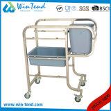 Chariot à ordures de pattes déplié par compensation carrée de nettoyage de tube avec le coffre et le panier