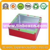 Belüftung-Fenster-Zinn-Kasten, quadratischer Zinn-Kasten, Blechdose-Verpacken