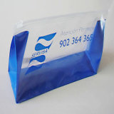 OEM personalizado Imprimir transparente de PVC con cremallera bolsa de cosméticos Embalaje