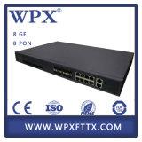 Accesos ópticos pasivos Epon Olt de Pon de la terminal de red del gigabit del precio bajo 8