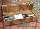 2ロックできるヒンジロックできる木製のワインボックスが付いている個人化された式の木製のワインボックス