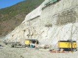 地図書のCopco 551cfm 17bar鉱山のための携帯用ねじ空気圧縮機