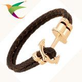Stlb-17011009 Armband van het Leer van de Mensen van het weefsel Multilayer
