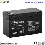 Bateria acidificada ao chumbo 12V da bateria do AGM da bateria do UPS de Cspower, 7ah