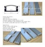 Profilo di alluminio anodizzato argento di alluminio all'ingrosso della striscia dell'espulsione LED del LED