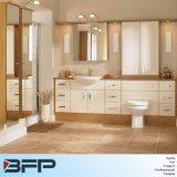 Bassin simple de porte plate blanche de PVC avec la fibre de bois Benchtop pour le projet
