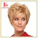 Peluca llena del cordón de la peluca del pelo corto del pelo humano para las mujeres