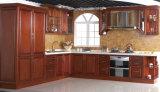 Gabinetes de cozinha levantados Home da madeira contínua de Rta do Frame-Menos do painel do molde de coroa da mobília