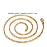 18k 금에 의하여 도금되는 최신 판매 도매 보석 여자 긴사슬 목걸이