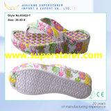 Изготовленный на заказ цветастые тапочки Flop Flip повелительниц высокой пятки печати