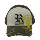 刺繍が付いているさまざまなカラー6パネルの綿の急な回復のトラック運転手の帽子