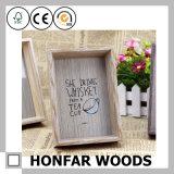 Frame da foto do retrato da madeira contínua para o presente do dia de pai