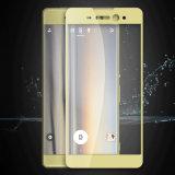 película de vidro Tempered de seda de telefone móvel da impressão 2.5D para Sony Xperia Xa ultra