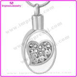 Bijoux pendentifs Pendentif ovale avec motif coeur Ijd9652