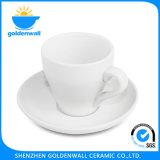 Tazza di caffè personalizzata della porcellana di colore con il piattino