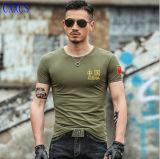 新しいデザイン通気性の軍のTシャツおよび軍のTシャツ