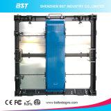 Alto affitto esterno 6500nits della parete della visualizzazione di LED di colore completo di luminosità P6.67 video