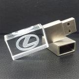 Mecanismo impulsor ligero de la pluma del flash del palillo de la memoria del USB 2.0 del cristal del LED
