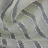 Tessuto sottile tinto a strisce chiaro del poliestere