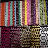 Couro sintético da boa qualidade para as sapatas ou os sacos (HTS016)
