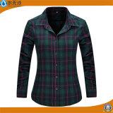 Una camicia casuale delle 2017 della molla di modo della camicia delle donne del cotone parti superiori delle camicette