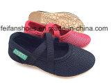 最新の女の赤ちゃんの赤ん坊靴のキャンバスの履物の靴(FFBB1230-02)