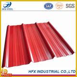 Telha de telhado de aço ondulada revestida Prepainted do ferro da cor (folha da telhadura)