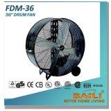 """36 de """" Industriële Op zwaar werk berekende, Multifunctionele Ventilator van de Trommel met de Bladen van het Aluminium"""