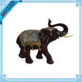 Animal decorativo cinzelado mão da estátua do Figurine do elefante Handmade
