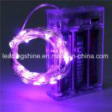 Lichten van het Micro- van de Kleur van aa de Batterij van de Koude Witte LEIDENE die Koord op 7.5 Voet in werking wordt gesteld