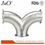 Garnitures de pipe sanitaires de tube d'extrémité de bride du coude 45D