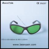 Gafas de seguridad de laser de Rtd-3 630 - 660nm O.D2+ y 800 - 1100nm O.D5+ para el rojo, Ce En207 de la reunión de los lasers del diodo