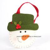 WeihnachtsSchneemann-und -rotwild-Beutel mit Filz-Gewebe