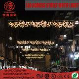 Natal decorativo do diodo emissor de luz 2D do feriado ao ar livre através da luz do motivo da rua