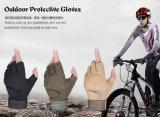熱い販売の黒く、カーキ色の軍隊半分指の戦術的な軍の手袋