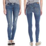 2017 pantaloni scarni del denim del cotone dei jeans di modo delle signore della molla