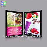 Facendo pubblicità alla casella chiara sottile del LED per la scheda di alluminio fissata al muro del menu