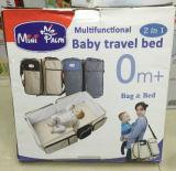 2 In1 de Draagbare Zak van de Baby van de Voederbak, Opvouwbaar Veranderlijk Pakket die, de Multifunctionele Reis Bag&Bed van de Baby Schouder 160101 vouwen van het Handvat van het Spel van de Isolatie van de anti-Mug van het Bed