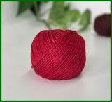 filé de fibre de jute teint par 3ply (rouge)