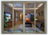 Puerta principal de Diseño Doble vidrio templado Puerta corredera de aluminio
