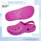 Beiläufige EVA-rosafarbene Garten-Klötze für Unisex-EVA-Schuhe in den Hefterzufuhren