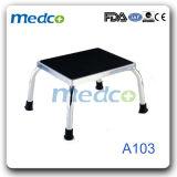 Мебель стационара металла материальная, медицинская хирургическая табуретка одного шага