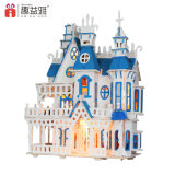 큰 성곽 나무로 되는 인형 집 모형 장난감
