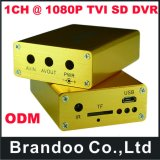1CH 1080P Tvi SD Car DVR, Max. Carte micro SD de 128 Go utilisée. 9 Menu langue différente, offre un service OEM.