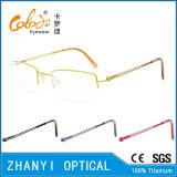 Рамка просто Semi-Rimless Titanium стекел Eyeglass Eyewear оптически (8505)