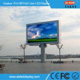 Tela video fixa da parede do diodo emissor de luz do MERGULHO P16 ao ar livre para o quadro de avisos