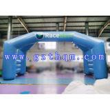 Runde Form-aufblasbarer Torbogen/blauer aufblasbarer Bogen für Reklameanzeige