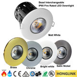 MAZORCA clasificada LED Downlight del fuego de 10W 12W IP65 Dimmable BS476 90mins