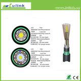 Cable óptico al aire libre de la fibra del cable óptico Gyfta53