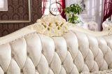 Il sofà classico del salone ha impostato con cuoio genuino